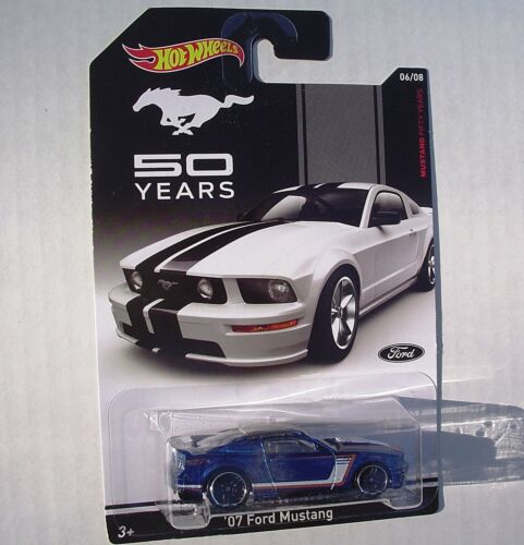 NEW SEALED Blister Pack! Hot Wheels MUSTANG 50 YEARS  /'07 Ford Mustang 6//8