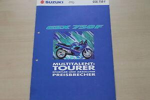 Bücher 170142 Zeitschriften Suzuki Gsx 750 F Prospekt 11/1992 Gutes Renommee Auf Der Ganzen Welt