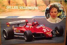 Gilles Villeneuve Ferrari F1 Car Poster Extremely Rare! Own It!!