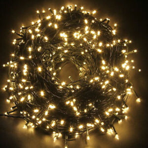 White String Christmas Lights.Details About 300 Led Warm White String Fairy Lights Party Christmas Tree Outdoor Indoor 25m
