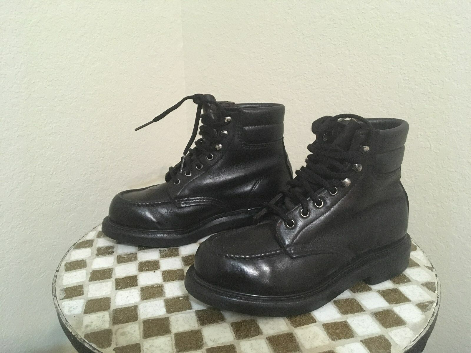 VINTAGE rot WING schwarz LACE UP RANCH WORK Stiefel 5 5 5 M 26486b
