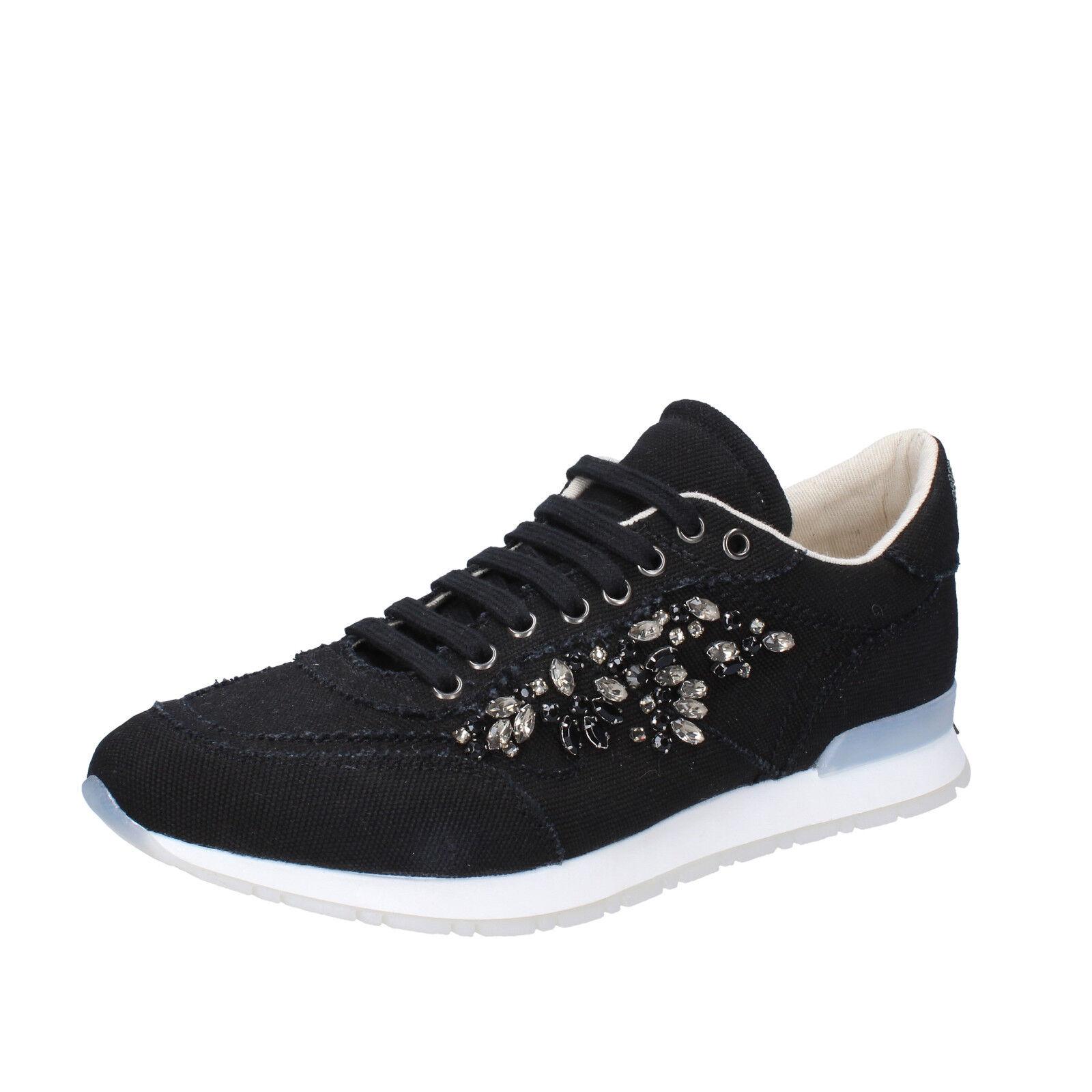 scarpe donna TWIN-SET nero SIMONA BARBIERI 39 EU sneakers nero TWIN-SET tessuto AB889-C bacb24