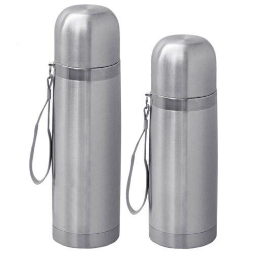 Thermos en acier inoxydable Isolierflasche flacon avec gobelet Paroi 0,35l//0 5 L