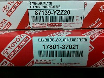Toyota Genuine OEM  Air//Cabin Filter combo kit 1780137021//87139YZZ20 20