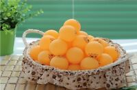 100 Pcs Big Orange  40mm Olympic 3 Stars Best Table Tennis Balls Ping Pong Ball