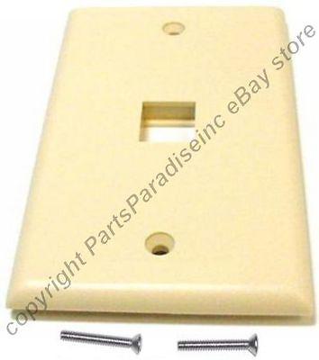 Lot10 Keystone Flush Wall Face Plate,1/one/single Hole/jack/port{ivory/beige/iv Glanzend