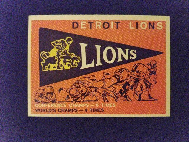 1959 Topps Football Card # 139 Lions Pennant (EX L@@K!)