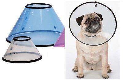 Elizabethan Dog Cone Collars Lightweight Flexible Plastic Protect Vet Healing