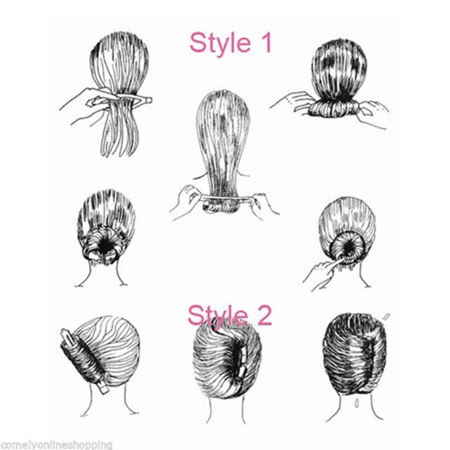 Women DIY Formal Maker Holder Hair Sticks French Twist Donut Bun Clip Tool