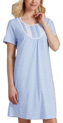 Fa M ou S High St Store Women/'s Polka Dot Short Sleeve Nightdress Nightwear 6-22