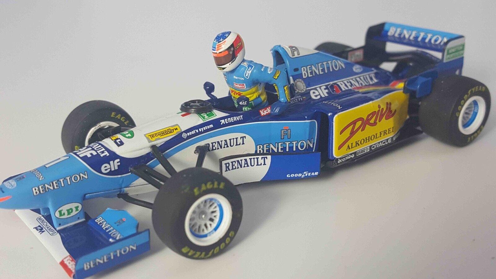 MINICHAMPS 400950101 143 1995 BENETTON B195 voiture Schumacher driver FIGURINE Modèle | Grandes Variétés