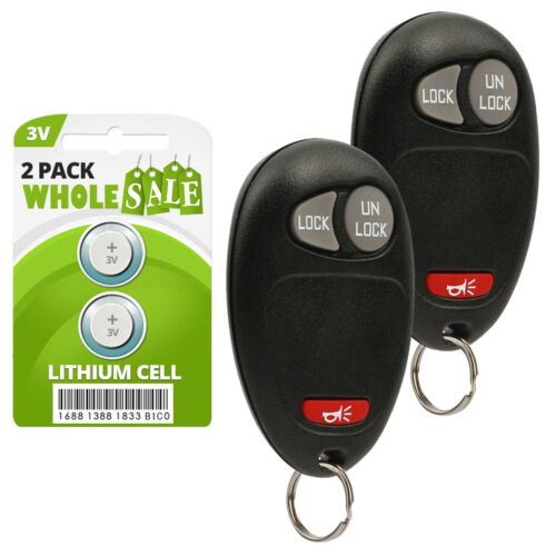 2 Replacement For 04 05 06 07 08 09 10 11 12 Chevrolet Colorado Key Fob Remote