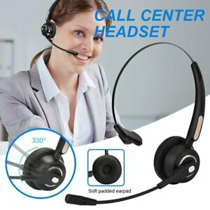 Wireless Bluetooth Headset Call Center Pc Laptop Mac Headphone Noise Cancelling Ebay
