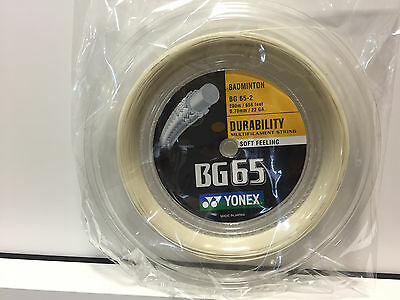 Fine Yonex Bg65 Bespannung Saite Badminton 200m Rolle Verschiedene Farben neu Strong Packing