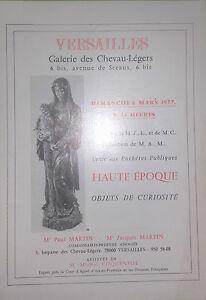 1977-Catalogue-Di-Vendita-Illustrato-Versailles-Articolo-Curiosita-Alta-Periodo