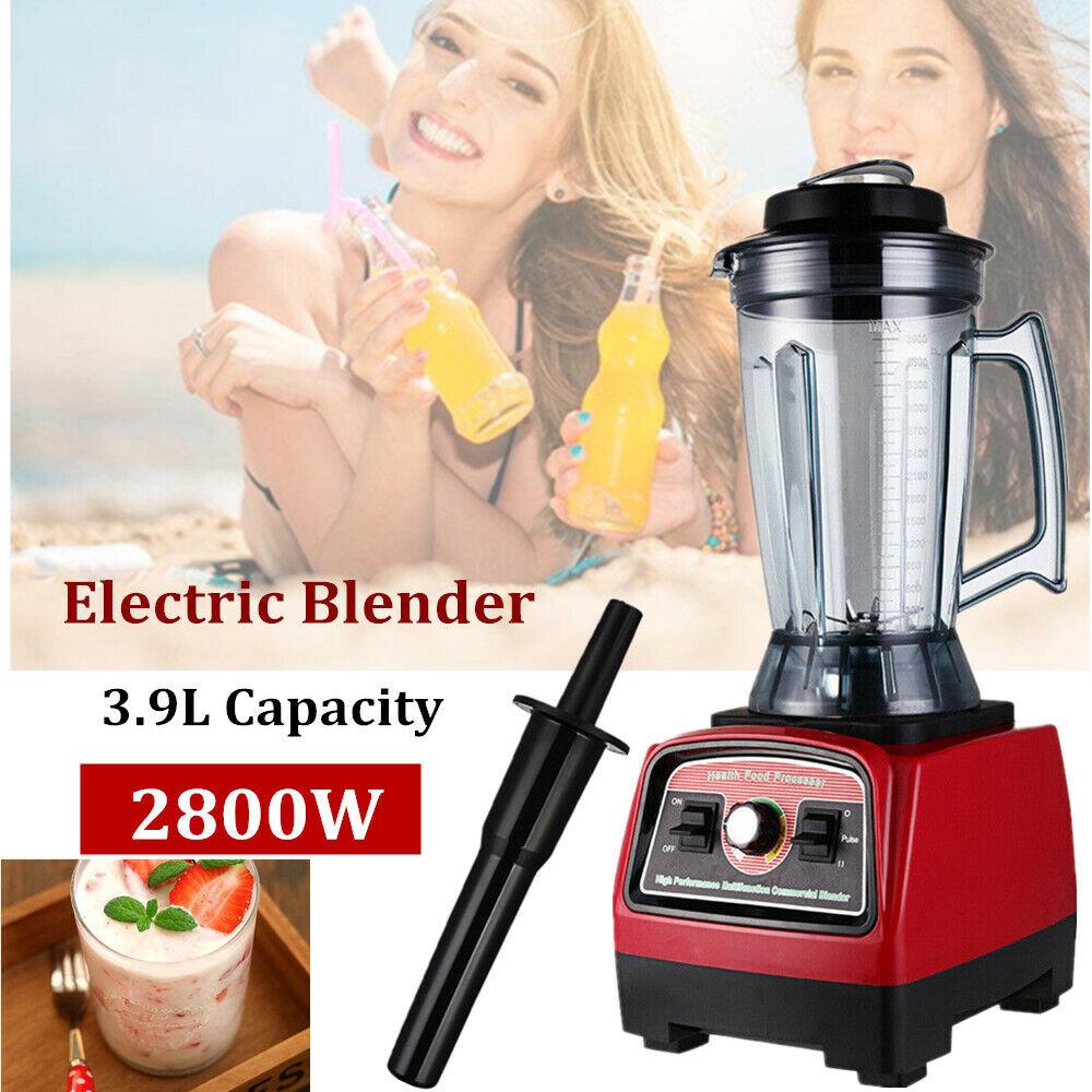3.9L 2800W Commercial Blender Food Processor Mixer Smoothie Juicer US Plug