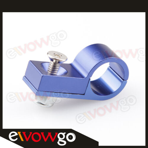 AN4 4AN AN-4 Line Clamp Hose Clamp Aluminum Blue ID 11.1mm