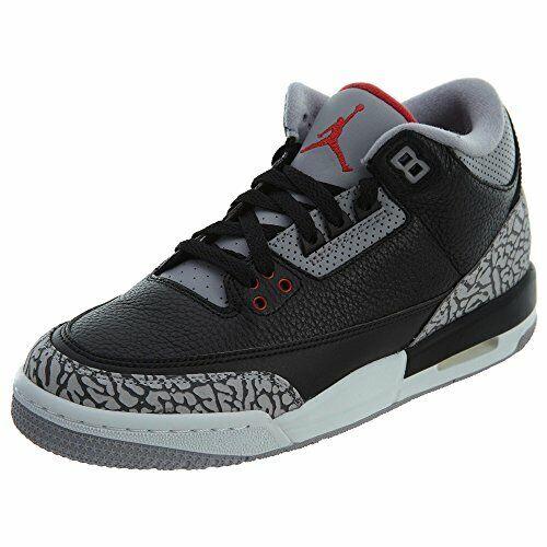 Nike Kid's Air Jordan 3 Black Cement