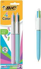 Bic 4 Color Fashion Ball Pen Medium Point 10mm Assorted 2 Count As Total