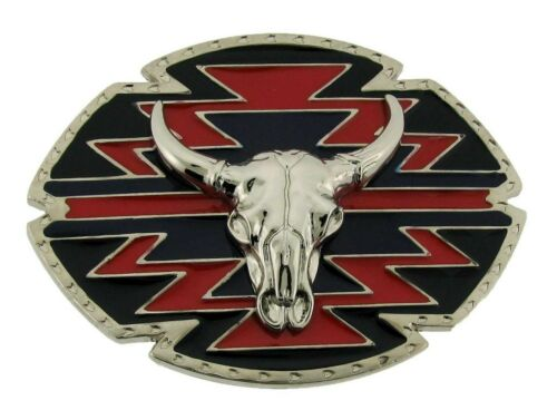 Bull Belt Buckle Trophy Steer Bull Western Texas Usa Longhorn Rodeo Metal Silver