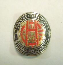Vintage The Hercules Cycle & Motor Co Britannia Birmingham Bicycle Head Badge