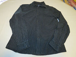 701bbc31f35e13 Faconnable Designed in France Mens long sleeve M button shirt black ...