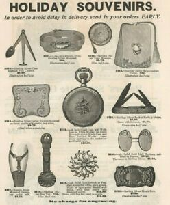 Lambert Brothers Jewelers 1895 Silver Christmas Gifts Vintage Print Ad