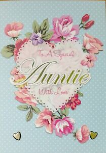 Image Is Loading Auntie Aunty Birthday Cards Handmade With Love Forever