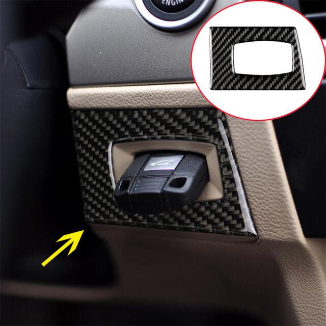 Carbon Fiber Car Interior Key Hole Frame Cover Trim for BMW E90 E92 3 Series