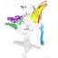 bird-7-hand-blown-clear-glass-miniature-figurine-crystal-dollhouse-art-animal thumbnail 1