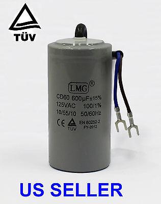 600uF MFD PREMIUM Start Capacitor 125Volt Motor Round 50/60hz