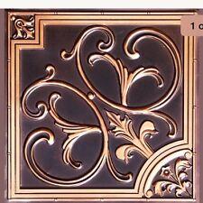 # 204 - Antique Copper 2'x2' PVC Decorative Ceiling Tile Glue Up/Grid