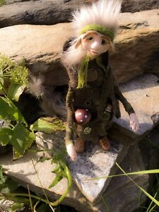 OOAK-Troll-Pixie-Handmade-Doll-Sculpture-Art-Faery-Faerie-From-Arctic-Norway
