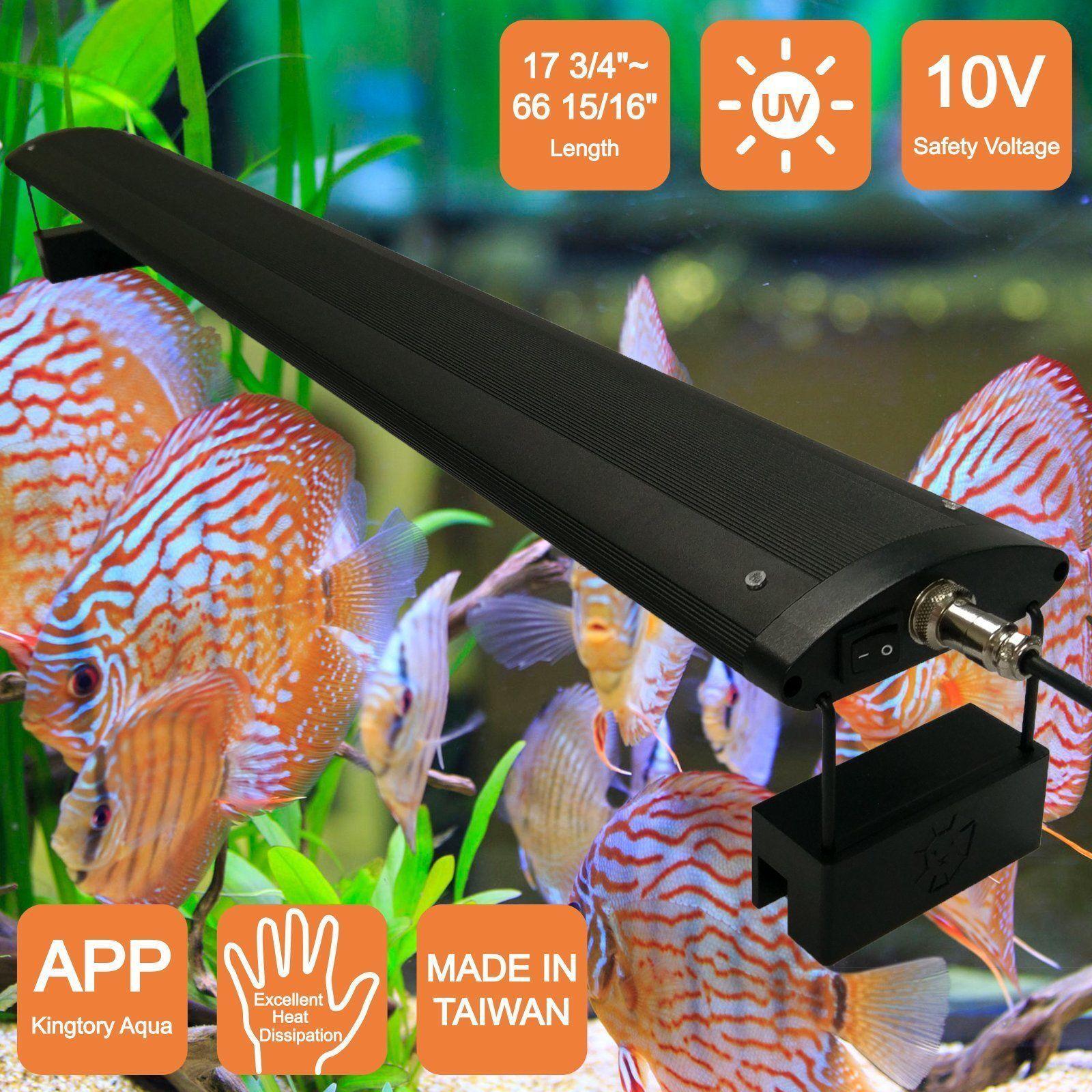KINGTORY LED aquarium lights for Fresh Fish Tank Color White 23 58  31 12