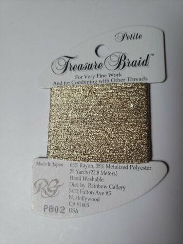 Rainbow Gallery Thread Petite Treasure Braid PB02 new cross stitch embroidery