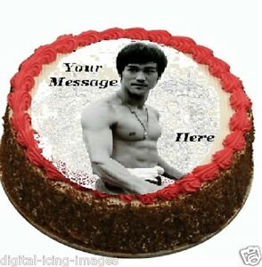 Bruce Lee Cake Topper Edible Image Icing Birthday Party Real Fondant Ebay