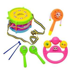 Holz Rasseln Percussion Kinder Baby Musikalisches Spielzeug-Geschenk  Kit w/ Musikinstrumente