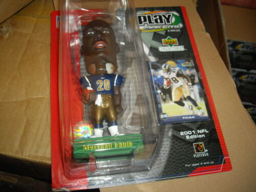 2001 Upper Deck NFL 7 inch Playmakers Bobblehead Marshall Faulk