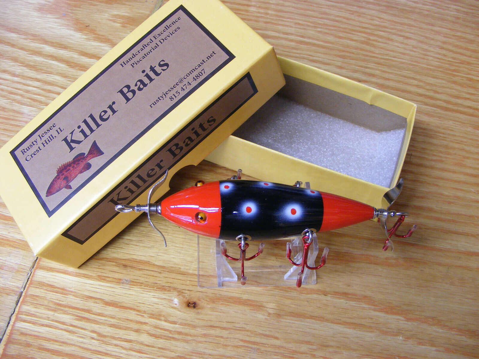 Killer Baits Rusty Jessee Heddon 300 Style  Glasseye 5 Hooker in Red Sable color  find your favorite here