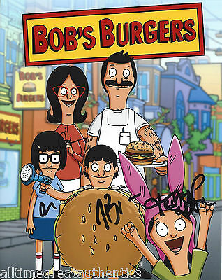 Bob's Burgers Cast Signed Authentic Autograph 8x10 Photo B W/coa X4 Fox Tv Show At Any Cost Autographs-original