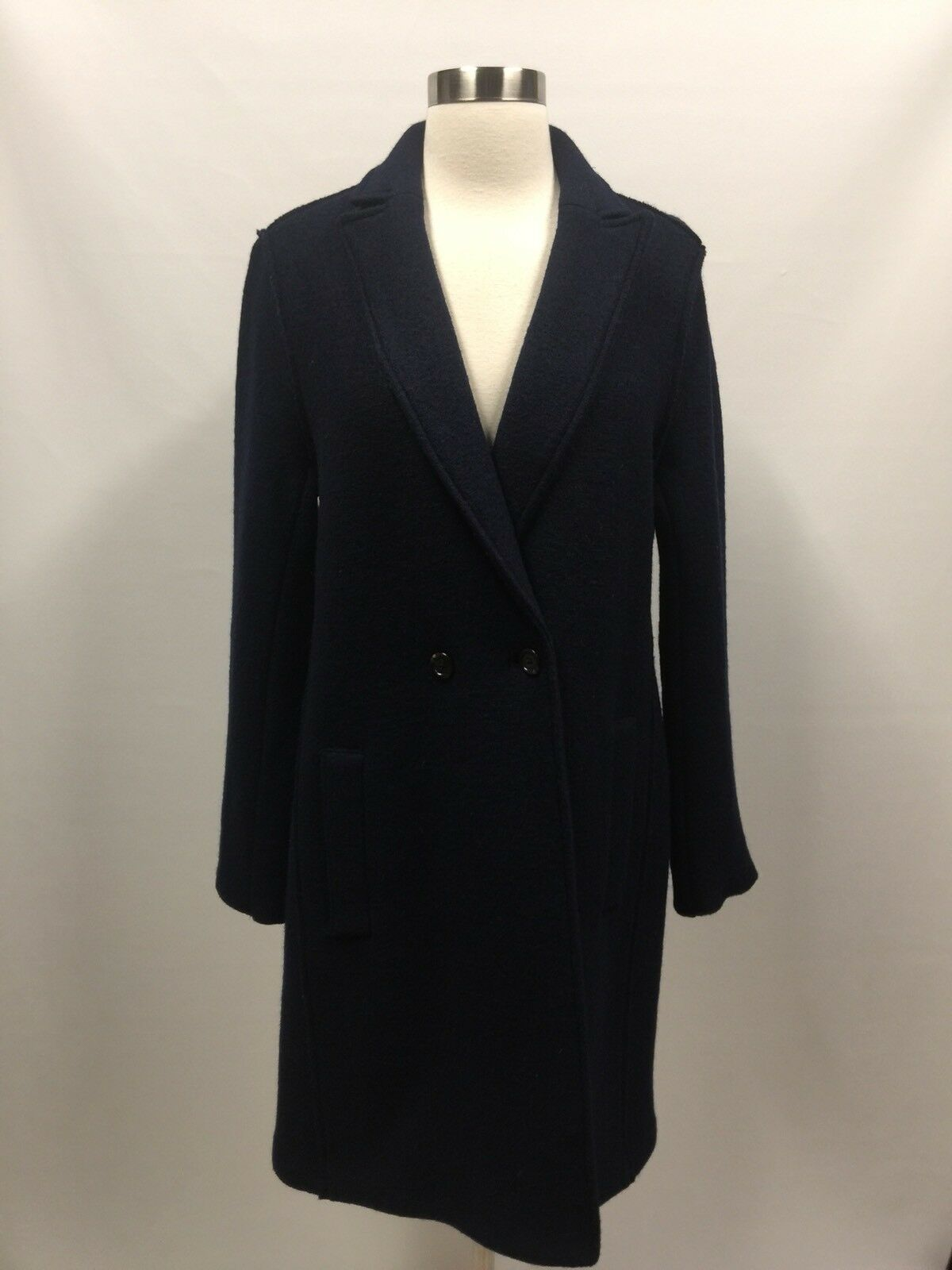 J.Crew Daphne topcoat in boiled wool Size 8 NAVY G8033  Sold out