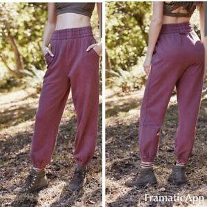 Free People Slouch It Jogger New Dried Rose Large L OB993665 New