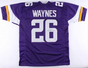 uk availability 55146 a5b9d Details about Trae Waynes Signed Vikings Jersey (TSE COA) Minnesota's 2015  #1 Draft Pick