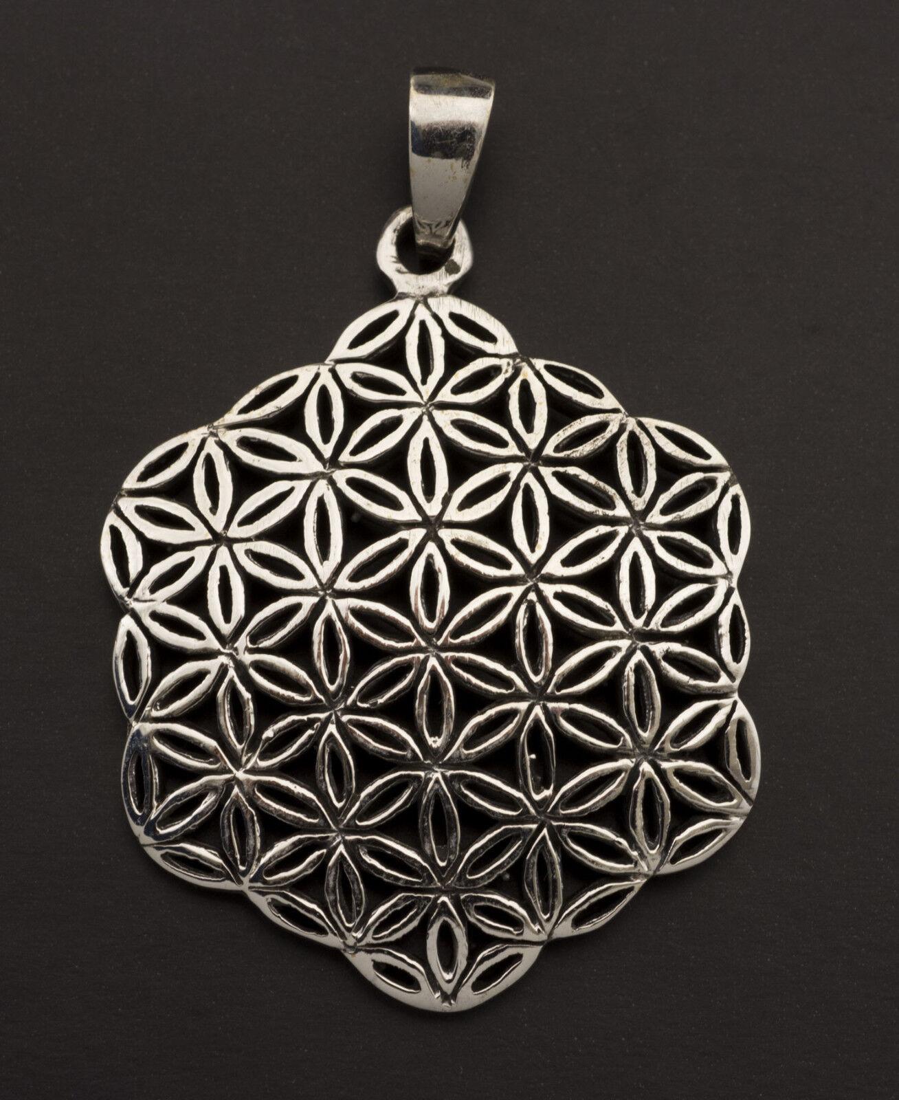 Pendentif geometrie Sacree Sri Yantra-silver 925-9.4g-mandala fleur de vie 25882