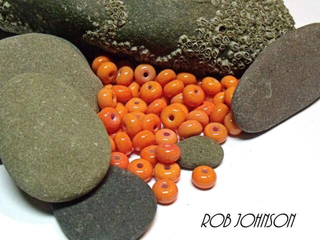 """Handmade Lampwork Beads, """"Coral"""". SRA, UK"""