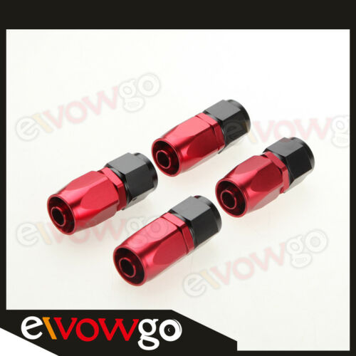 Fitting Hose End Adaptor Kit 6AN AN6 Nylon Braided Oil//Fuel Line//Hose