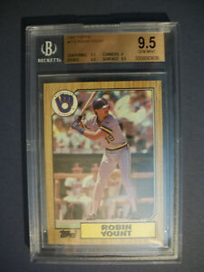 ROBIN-YOUNT-1987-Topps-773-BGS-GEM-MINT-9-5-Brewers
