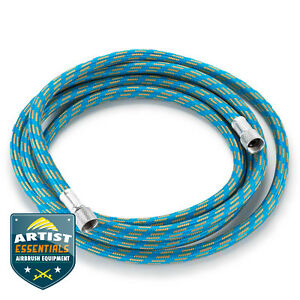 Braided-Airbrush-Air-Hose-1-8-034-BSP-Fits-Most-Brands-Choose-6-039-or-10-039