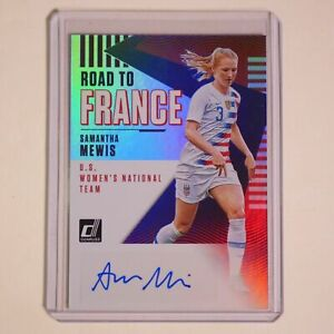 SAMANTHA MEWIS Autograph ROAD TO FRANCE World Cup Soccer Auto Olympic Gold Women