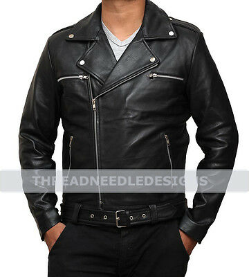 The Walking Dead Negan Jeffrey Dean Morgan Black Stylish Leather Jacket